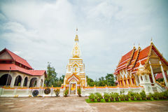 White and gold pagoda. A white and gold pagoda in Asia Stock Photo