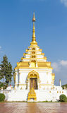 White and gold PAGODA at Temple. Royalty Free Stock Photos