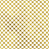 White and gold  pattern. Abstract polka dot background. Royalty Free Stock Photography