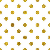 White and gold  pattern. Abstract polka dot background. Vector illustration. Texture of gold foil Royalty Free Stock Photography