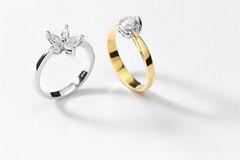 White Gold Rings Stock Photo