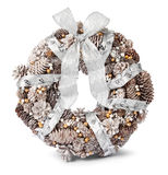 White gold silver Christmas wreath Stock Image