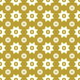 White on gold with two different sized stars with squares and circles seamless repeat pattern background. Two colour two different sized stars with squares and Stock Photography