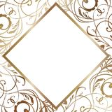 White wedding Card Illustration. Invitation in Vector. Bridal Shower Template. White and gold wedding Card Illustration. Invitation in Vector. Bridal Shower vector illustration