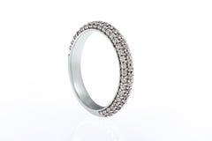 White gold wedding engagement ring Stock Photography