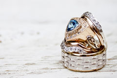 White Gold Wedding Rings Royalty Free Stock Photography