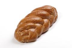 White golden bread. Isolated white sweet wheaten bread Stock Photography