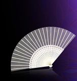 white-golden fan Royalty Free Stock Image