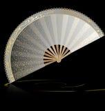 White golden fan Stock Images