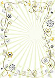 White and golden floral frame Royalty Free Stock Image
