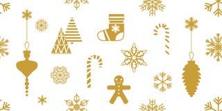 Happy Christmas seamless pattern. stock illustration