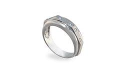 White golden ring royalty free stock photos