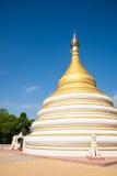 White and golden stupa, Mandalay, Burma Royalty Free Stock Photography