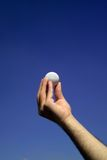 White golf ball Royalty Free Stock Photo