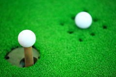 White golf ball Royalty Free Stock Image