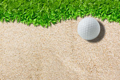 White golf ball on green Stock Images
