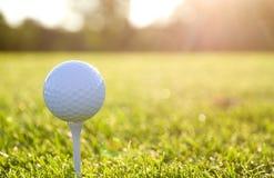 Free White Golf Ball On A White Tee Shot Against The Sun Stock Photos - 198350373