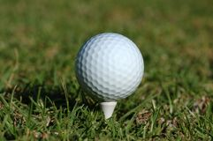 White Golf Ball on Tee. Stock Images