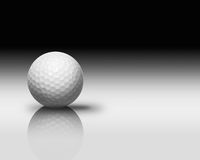 White Golf Ball on White Reflect Floor Stock Images