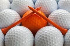 White golf balls Stock Photography