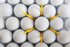 White golf balls Royalty Free Stock Photography