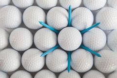 Golf balls and tees Royalty Free Stock Image