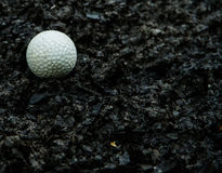 Golf  on sediment Stock Photo