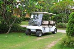 White golf car Stock Image