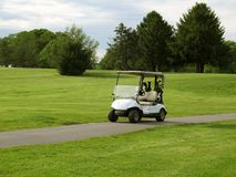 White Golf Cart royalty free stock photography