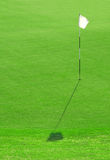 White Golf Flag Hole Stock Photo