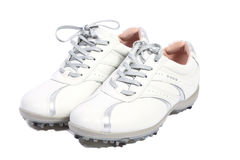 White golf shoes Royalty Free Stock Photography