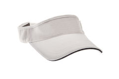 White golf visor for man or woman Royalty Free Stock Images
