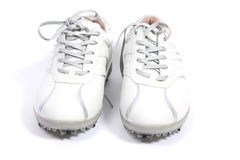 White golfshoes Royalty Free Stock Images