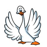 White goose cartoon Royalty Free Stock Images