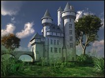 White gothic castle Stock Image