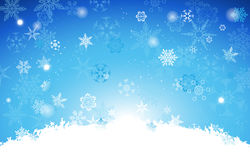 White And Gradient Light Blue Christmas background  Royalty Free Stock Image