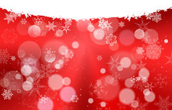 White And Gradient Light Red Christmas background with snowflake  Royalty Free Stock Photo