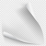 White gradient paper curl Royalty Free Stock Photo