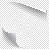 White gradient paper curl. With shadow on transparent background. Vector sticker paper note for memo and notice. Vector template illustration for your design stock illustration
