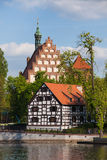 White Granary and Cathedral in Bydgoszcz Royalty Free Stock Images
