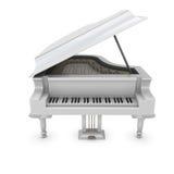 White grand piano Stock Photo