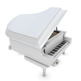White grand piano on a white Stock Image
