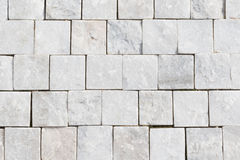 White granite cobblestone Stock Images