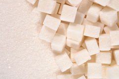 White granulated and refined sugar texture Royalty Free Stock Photo