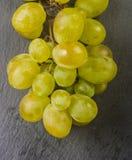 White grape on black background Royalty Free Stock Photography