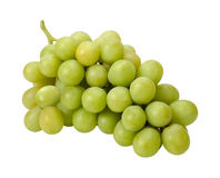 White Grape Bunch with clipping path Royalty Free Stock Photography