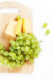 White grape with cheese Royalty Free Stock Image