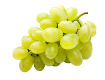 White grape fully isolated. On the white Stock Image