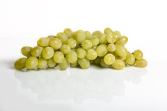 White Grape with reflection background. White Grape with reflection. Grape with reflection Stock Photography