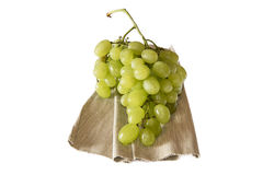 White grape on white background Stock Photos